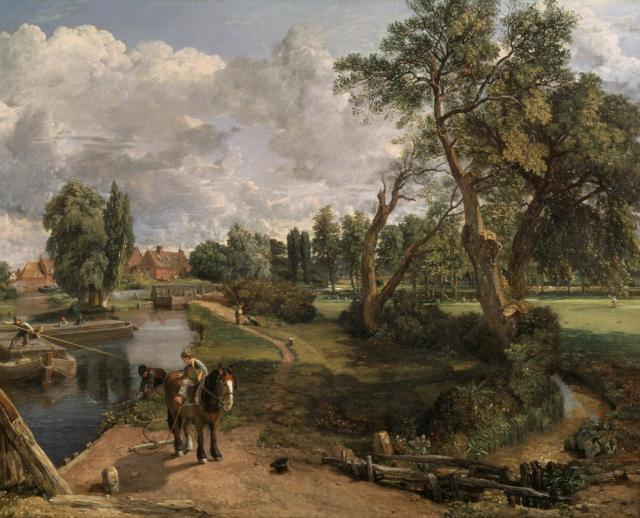Flatford Mill ('Scene on a Navigable River') 1816-7 by John Constable 1776-1837